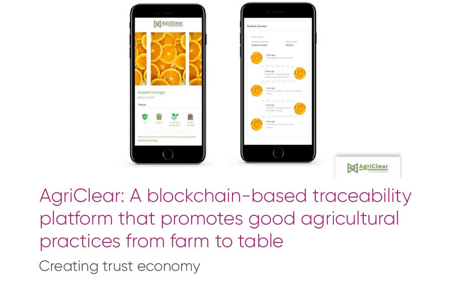 AgriClear: A blockchain-based traceability platform that promotes good agricultural practices from farm to table
